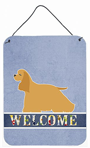 Caroline's Treasures BB5490DS1216 Cocker Spaniel Welcome Metal Print, 16 x 12, Multicolor