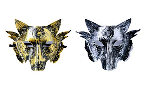 Cosplay Wolf Costume Mask Full Face Mask for Men Women]()