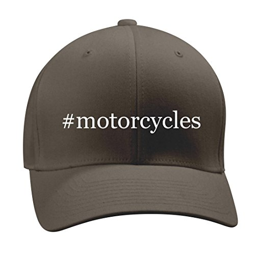 #motorcycles - A Nice Hashtag Men's Adult Baseball Hat Cap, Dark Grey, Small/Medium