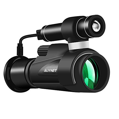 Aliynet Infrared Night Vision Telescope WIFI Connect Smartphone Application,Infrared Night Vision Monoculars big Tripod&Phone Adapter outdoor trip,Camping night watching by Aliynet