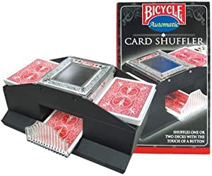 MDR Bicycle Automatic Card Shuffler Shuffles 1 Or 2 Decks with The Touch of a Button. Cards Not Included