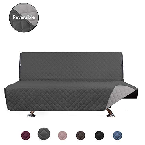 Incredible Purefit Reversible Quilted Armless Sofa Cover Water Resistant Slipcover Furniture Protector Washable Couch Cover With Adjustable Straps For Kids Download Free Architecture Designs Scobabritishbridgeorg