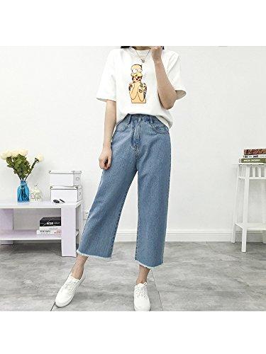 Ochenta Capri Basic Pantalone Blue Mid 6882 Donna Jeans HHU6AZ