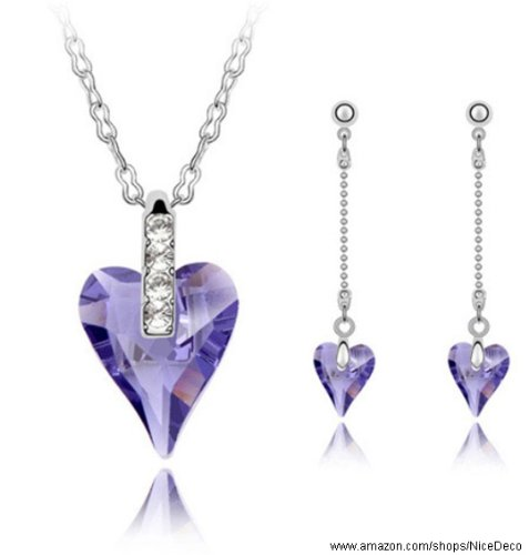 Nicedeco purple swarovski elements austrian crystal for Does gold plated jewelry fade