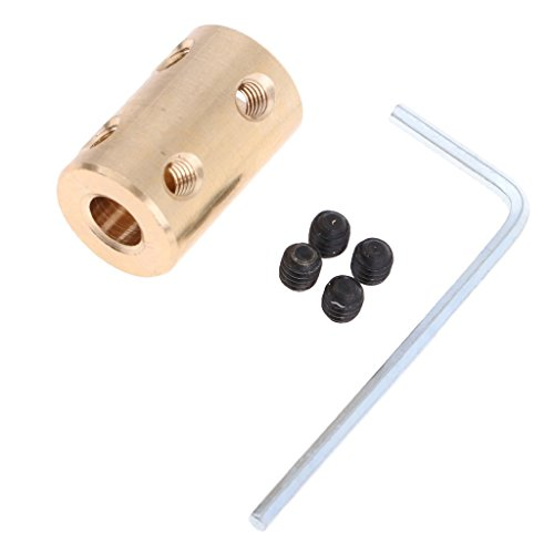 (D DOLITY 8mm to 8mm Shaft Coupling Rigid Stepper Motor Coupler Slleve Adapter w Spanner M4 Screw)