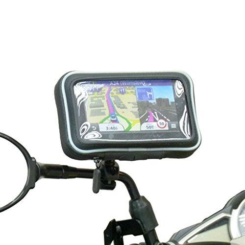 Waterproof Motorcycle Mirror Stem Mount for Garmin Nuvi 2519 2519LM (sku 31132) (Gps Waterproof Garmin Motorcycle)