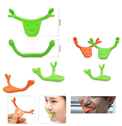 Denshine  Smile Maker Mouth Muscles Brace Smile Training For Smiling Face 1 Pack  Orange