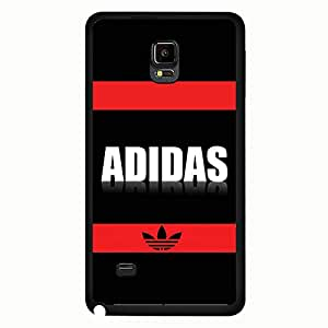 Adidas A Logo Phone Case Cover MK102 for Samsung Galaxy Note 4 Black Hard Case_Black and Red
