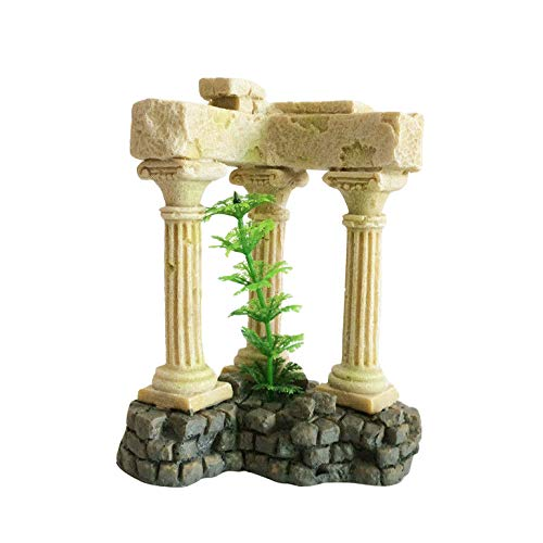 Greek Column Decorations (Aquatropico Roman Column Greek Temple Ruins Aquarium Decoration Remains)