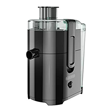 BLACK+DECKER JE2400BD 400-Watt Fruit and Vegetable Juice Extractor with Space Saving Design, Black 8