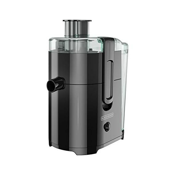BLACK+DECKER JE2400BD 400-Watt Fruit and Vegetable Juice Extractor with Space Saving Design, Black 1