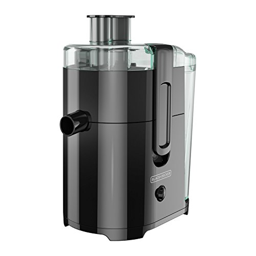 BLACK+DECKER 400-Watt Fruit and Vegetable Juice Extractor, Black, JE2400BD