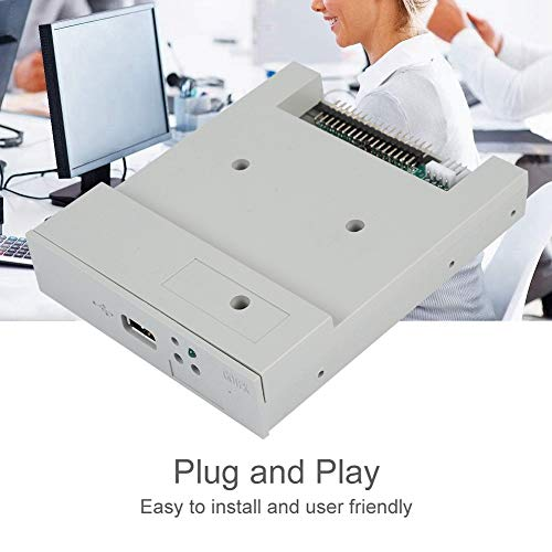 fosa USB Floppy Emulator, SFR1M44-U 3.5In 1.44MB USB SSD Floppy Drive Emulator Updated Version USB Flash Plug and Play with CD Screws for Floppy Disk Drive Industrial Control Equipment by fosa (Image #2)