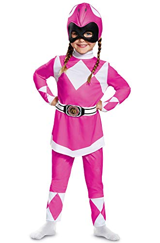 Disguise Pink Ranger Toddler Classic Child Costume, Pink, -