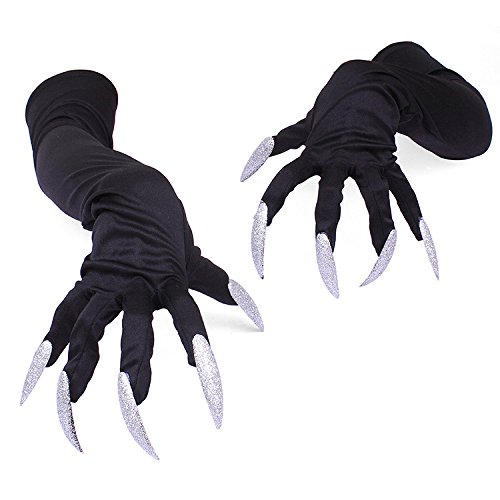 Autumn Water Long fingernail Gloves Halloween hollowen Cosplay Props Hand Sleeve Claws Performing Sleeve Cuff by Autumn Water