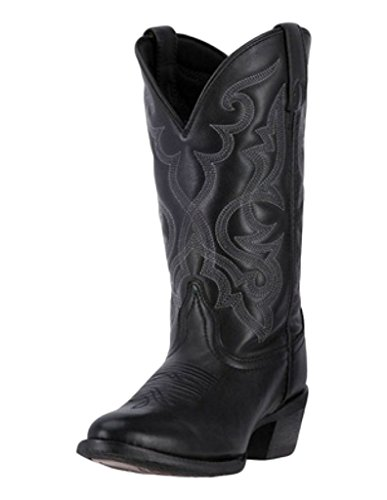 Laredo Womens Black Maddie Leather Cowboy Boots 11in Embr...