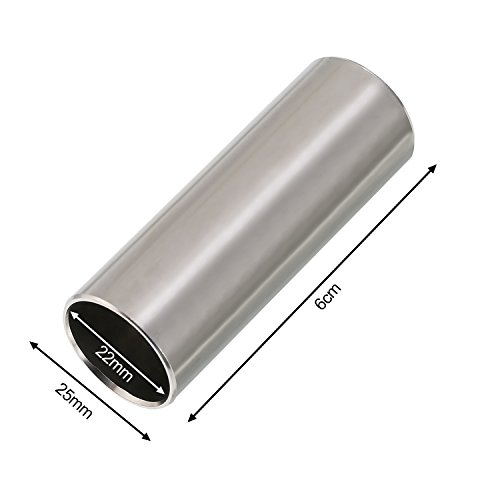 Pangda 2 Pieces Glass Slide and Stainless Steel Slide in Box for Guitar 6 Bass