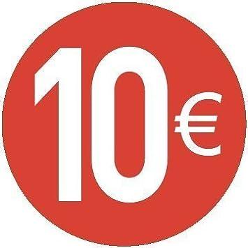 10 Euro Rosso Confezione da 200 Pezzi 20mm Euro Adesivi Prezzo 20 Diversi Prezzi da Scegliere Tra