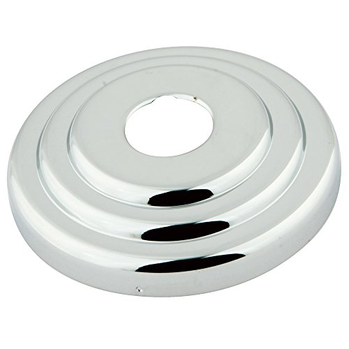 Kingston Brass FLCLASSIC1 Nuvofusion Made to Match Decor Escutcheon, 3-Inch, Polished Chrome (Chrome Shower Flange)