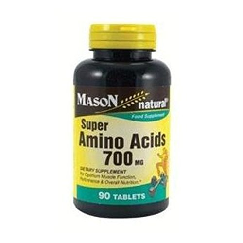 2 Pack Special of MASON NATURAL SUPER AMINO ACIDS 700MG TABLETS 90 per bottle Super Amino Acids