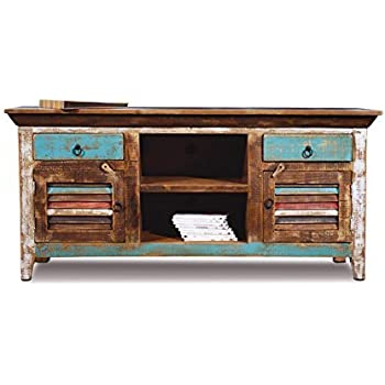 Amazon Com Distressed Reclaimed Solid Wood Credenza Tv