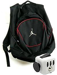 Air Jordan Jumpman 23 Black Book Bag Backpack with FREE FIDGET CUBE  (Black Red 4b71f64d44