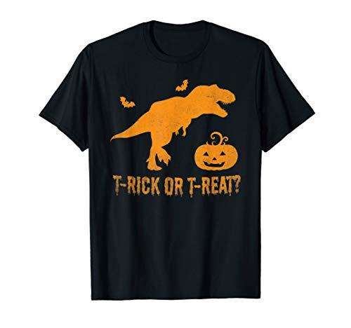 T Rex Halloween Dinosaur Pun Pumpkin Funny T-Shirt]()
