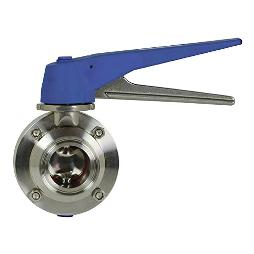 4 Weld Ends w//Silicone Seat 304 Stainless Steel Dixon Sanitary B5115 Butterfly Valve