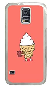 Mr Funny Ice Cream PC Transparent Hard Case Cover Skin For Samsung Galaxy S5 I9600 by supermalls