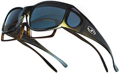 Fitovers Eyewear Jett Sunglasses, Olive Charcoal, Polarvue - Golf Jett