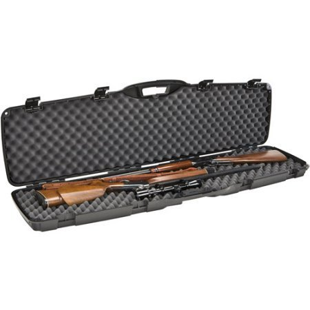 Plano Protector Series Lightweight Black Double Gun Case With Heavy Duty Latches And Padlock Tabs, Accommodates Guns Up To 50