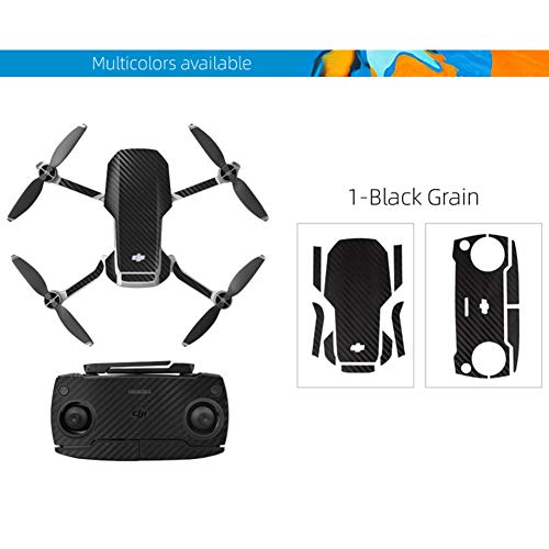 OUYAWEI Top PVC Shell Decoration Sticker for DJI for Mavic Mini Drone Body Arm and Controller Waterproof Anti-Scratch Full Protective Film Black