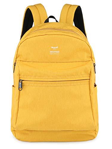 (Himawari School Bag for Boys Girls-Student Backpack, Unisex College Bookbag Back Bag,Fits 15.4 inch Laptop,Travel Water-Resistant Rucksack for Men/Women (L, 1016-Yellow))