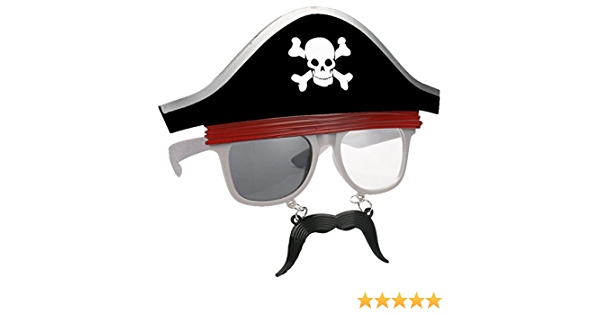 Halloween Cosplay The ship Pirate Captain Accessories pirate hat + glasses O8F9