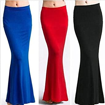 FidgetGear falda larga de sirena con corte entallado y cintura ...