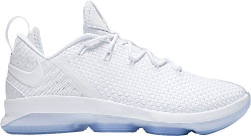 Nike Men's LeBron 14 Low Basketball Shoes (White/White, 7.5 D(M) US) by NIKE