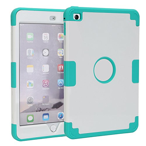 TKOOFN Shockproof Case With Stand For Apple iPad Mini White - 6