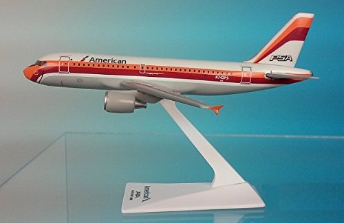 (Flight Miniatures American Airlines / PSA Pacific Southwest A319-100 1:200 Scale REG#N742PS)