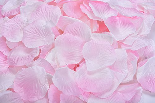 Magik 1000~5000 Pcs Silk Flower Rose Petals Wedding Party Pasty Table Decorations, Various Choices (3000, Sakura & -