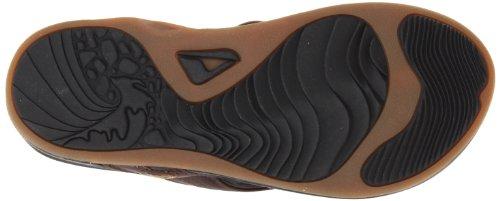 Reef REEF J-BAY R2310BLA - Chanclas de cuero para hombre Marrón (Dark Brown)