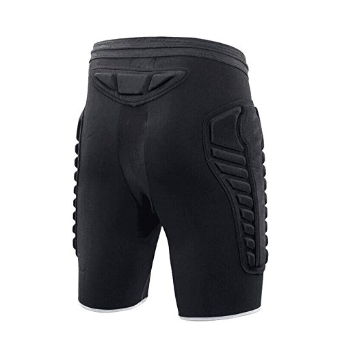 TUOY Mens Tri Flex Padded Compression Shorts Protection Undershort Best for Basketball,Football,Hockey,Cycling,Ice Skating and Contact Sports
