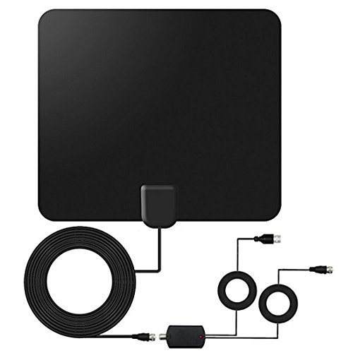 TV Antenna 2018 Upgrade 4K HD 1080P 60 Mile Range Indoor TV Antenna Amplifiers High-Performance Coaxial Cables,Support All Smart TV