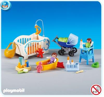PLAYMOBIL 6226 - 2 Bebés y Complementos para su Cuidado: Amazon.es: Juguetes y juegos
