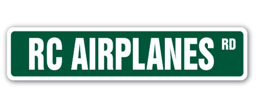 [SignJoker] RC AIRPLANES Street Sign hobby model builder helicopter planes fly flyer gift Wall Plaque Decoration Rc Model Flyers