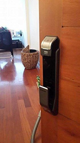 Samsung Digital Door Lock SHS-P718LBK/EN Fingerprint Push Pull Two Way  Latch Mortise ENGLISH VERSION (Morise - AML320)
