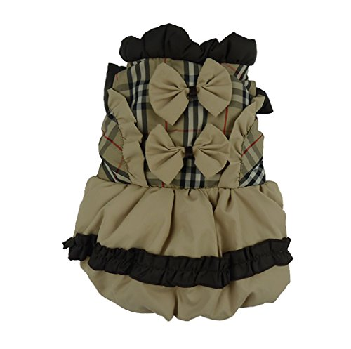 Fashion Winter Princess Dog Dresses Padded Puffy Warm Girl Jacket (Min Miss A Halloween)