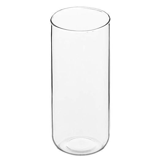 DPFXNN Florero de Vidrio Transparente, florero de Mesa de Vidrio ...