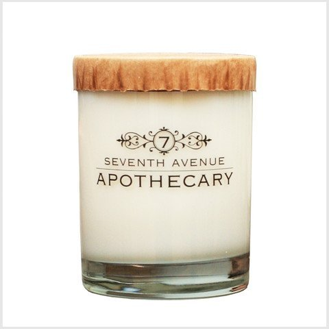 Apothecary Glass Jar Double Wick 14 Ounce Aromatherapy Soy Candle (Tuscan Cypress & Fig) - 14 Oz Glass Jar