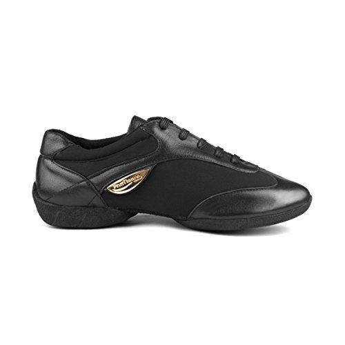 Sole Dance Sneakers PortDance Cuir Femmes Sneaker Fashion PD03 Neoprene Noir wZzfz