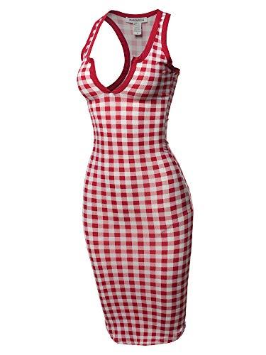 Front Lace Mini Dress - Sexy Solid Split Neck line Front Bodycon Midi Dress Wine M